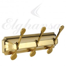 Elghansa Hermitage HRM-730-Gold  Панель с 3 плоскими крючками, золото