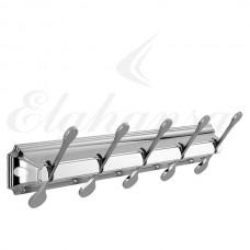 Elghansa Hermitage HRM-750  Панель с 5 плоскими крючками, хром