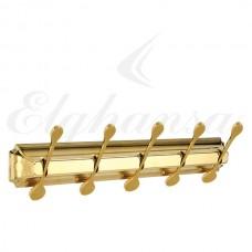 Elghansa Hermitage HRM-750-Gold  Панель с 5 плоскими крючками, золото