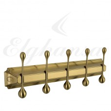 Elghansa Hermitage HRM-950-Bronze  Панель с 5 круглыми крючками, бронза