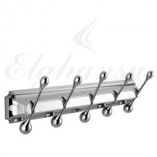 Elghansa Hermitage HRM-950  Панель с 5 круглыми крючками, хром
