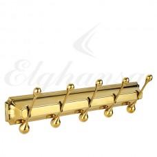 Elghansa Hermitage HRM-950-Gold  Панель с 5 круглыми крючками, золото
