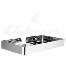 Elghansa UN-512 Steel Полка для ванной 120*230 мм , нержавеющая сталь