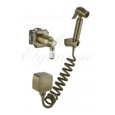 Elghansa 24C0784-Bronze (Set-49) Смеситель скрытого монтажа с гигиеническим набором, бронза