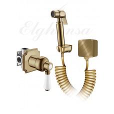 Elghansa 34C0786-Bronze (Set-49) Смеситель скрытого монтажа с гигиеническим набором, бронза