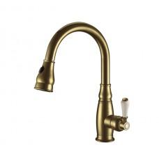 Elghansa Kitchen 5652686-Bronze Смеситель для кухни с выдвижной лейкой, бронза