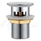 "Elghansa Waste Systems WBT-121 Донный клапан 1 1/4"" для раковины с переливом Click-Clack, RoundLine, хром"