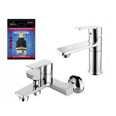 Elghansa Wellesley 2344844+16U4844 Комплект для ванной+подарок картридж для смесителя KH-35-500, хром