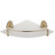 Hayta Classic Gold 13910-1/GOLD Полка стеклянная угловая, золото