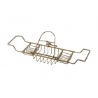 Migliore Complementi ML.COM-50.171.BR Полка-решётка на ванну с подставкой для книг H29,5xL66-105xP19cm, бронза