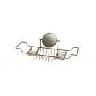 Migliore Complementi ML.COM-50.172.BR Полка-решетка на ванну с оптическим зеркалом Н29,5хL66-105хР19cm., бронза