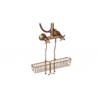 Migliore Complementi ML.COM-50.174.BR Полка-решётка подвесная L25cm., для внешнего душевого cмесителя, бронза
