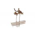 Migliore Complementi ML.COM-50.175.BR Полка-решетка подвесная L40cm., для внешнего душевого cмесителя, бронза