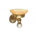 Migliore Cristalia ML.CRS-60.201.DO Mыльница настенная, crackle стекло/SWAROVSKI, золото