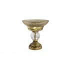 Migliore Cristalia ML.CRS-60.211.BR Mыльница настольная, crackle стекло/SWAROVSKI, бронза