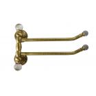 Migliore Cristalia ML.CRS-60.224.BR Полотенцедержатель двойной поворотный L33 см, SWAROVSKI, бронза