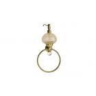 Migliore Cristalia ML.CRS-60.226.BR Дозатор жидкого мыла с кольцом настенный, стекло/SWAROVSKI, бронза