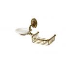 Migliore Edera ML.EDR-60.326.BR Мыльница с корзинкой настенная, керамика, бронза