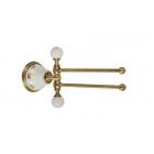 Migliore Provance ML.PRO-60.524.BR Полотенцедержатель двойной поворотный L20 cм, керамика с декором, бронза