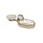 Migliore Provance ML.PRO-60.526.BR Мыльница с корзинкой настенная, керамика с декором, бронза