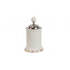 Migliore Provance ML.PRO-60.528.CR Баночка высокая H14 см. с крышкой, керамика с декором, хром