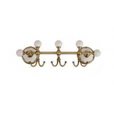 Migliore Provance ML.PRO-60.539.BR Планка с тремя крючками L30 см, керамика с декором, бронза