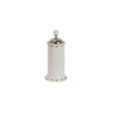 Migliore Provance ML.PRO-60.546.CR Контейнер для мусора H27xD12 см. настольный с крышкой, керамика с декором, хром