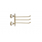 Migliore Provance ML.PRO-60.554.BR Полотенцедержатель тройной поворотный L35 cм, керамика с декором ,бронза