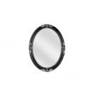 Migliore CDB ML.COM-70.503.NR.AG Зеркало овальное h82xL62xP5,5 cm., черный/декор серебро