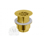"Migliore Ricambi Daisy ML.RIC-10.125.DO Слив для раковины d-63 mm 1""1/2 без перелива с решёткой, золото"
