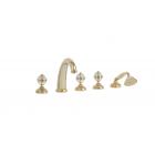Migliore Cristalia 27182 Смеситель на борт ванны на 5 отверстий, золото