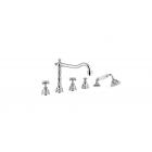 Migliore Princeton ML.PRN-880.CR Смеситель на борт ванны на 5 отверстий, хром
