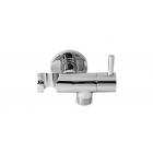 Remer 336L Кронштейн для подключения шланга с держателем лейки и краном, хром