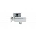 Remer SQ 336S Кронштейн для подключения шланга с держателем лейки и краном, хром