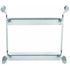 SCHEIN Watteau 1212 Полка прямая стекло с ограничителем, хром