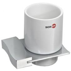 SCHEIN Swing 323C Стакан керамика к стене, хром
