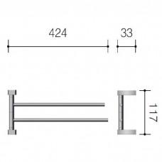 SCHEIN Swing 32824 Полотенцедержатель двойной поворотный, хром
