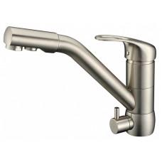 ZorG Clean Water ZR 400 KF-12 satin Смеситель для кухни под фильтр, сатин