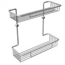 SCHEIN 4003 Полка 2-этажная металлическая к стене, хром