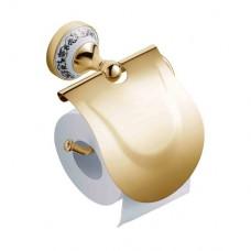 SCHEIN Saine Gold 7053026VF Бумагодержатель с крышкой, золото