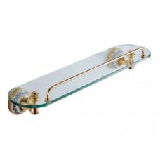 SCHEIN Saine Gold 7053145VF Полка стекло с ограничителем, золото
