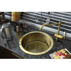 ZorG SZR-500-Bronze Кухонная мойка круглая, бронза