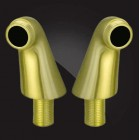 Elghansa AC-34 Bronze Уголки для смесителя на край ванны, бронза