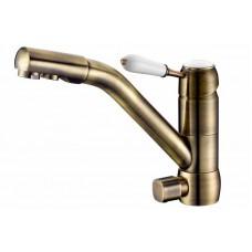 ZorG Clean water  ZR 400 KF-46-BR Смеситель для кухни под фильтр, бронза