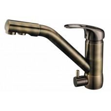 ZorG Clean Water  ZR 400 KF-12 antique Смеситель для кухни под фильтр, античная медь