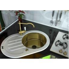 ZorG Inox Мойка-Glass 780*510 овал GL-7851-OV-white-bronze