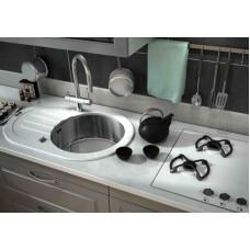 ZorG Inox Мойка-Glass 780*510 овал GL-7851-OV-white
