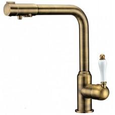 ZorG Clean water ZR 320 YF-50 BR  Смеситель для кухни под фильтр, бронза