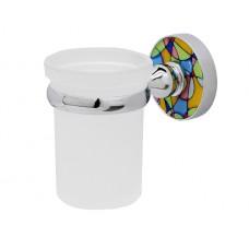 WasserKraft Diemel K-2228 Стакан с настенным креплением, хром/матовое стекло