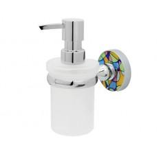 WasserKraft Diemel K-2299 Диспенсер с настенным креплением, хром/матовое стекло